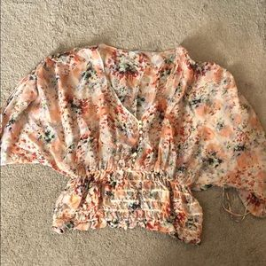 Floral patterned Zara woman top